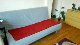 Silver Sofa Double Bed 3 Seater for sale