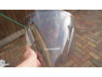 er6f light smoked windscreen