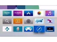Kodi Ready Apple TV 4TH GEN FULLY LOADED WITH FREE MOVIES, SPORT KIDS AND MUCH MORE