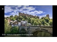 Luxurious apartment in Durham city centre with views of the cathedral.