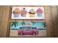 Cupcake and Ice Cream Van Canvases
