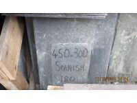 "180 no NEW SPANISH ROOFING SLATES 450 X 300 (18 X 12"") & 140 no 450 x 250 (18 x 10"")"