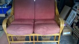 2 Seater Cane Settee