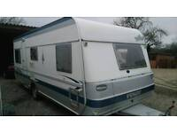 Fendt platin caravan 4 berth fixed bed 18 ft 2005 hobby tabbert