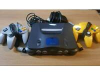 N64 with 2 controllers.