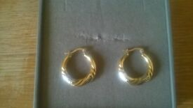 sterling silver and 9ct bonded gold earrings
