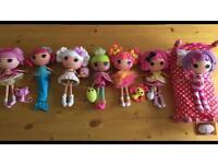 Large 7 Doll Lalaloopsy (Lala loopsy) Bundle