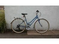LADIES RIDGEBACK 18 SPEED HYBRID BICYCLE FOR SALE, GREAT CON, HARDLY USED, COMES WITH CHAIN + LOCK