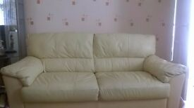 leather suite-great condition!