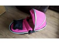 Pink silver cross surf carry cot