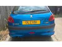 Peugeot 206, 2004, with OLZ1101 Ageless number plate for spares/repairs/small project