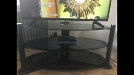 Black & chrome TV stand for sale