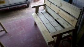 Home made garden benches.