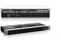 Behringer ADA 8000 Ultragain Pro 8 input output ADAT expansion