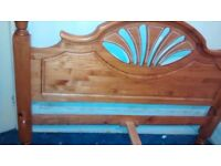 John Lewis King Size bed Solid wood