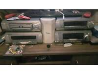 Technics stereo with floor standing speakers