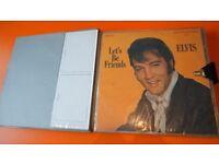 12 VINTAGE ELVIS VINYL LP COLLECTION IN RETRO CASE