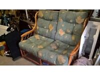 Wicker Conservatory 2 Seater Sofa