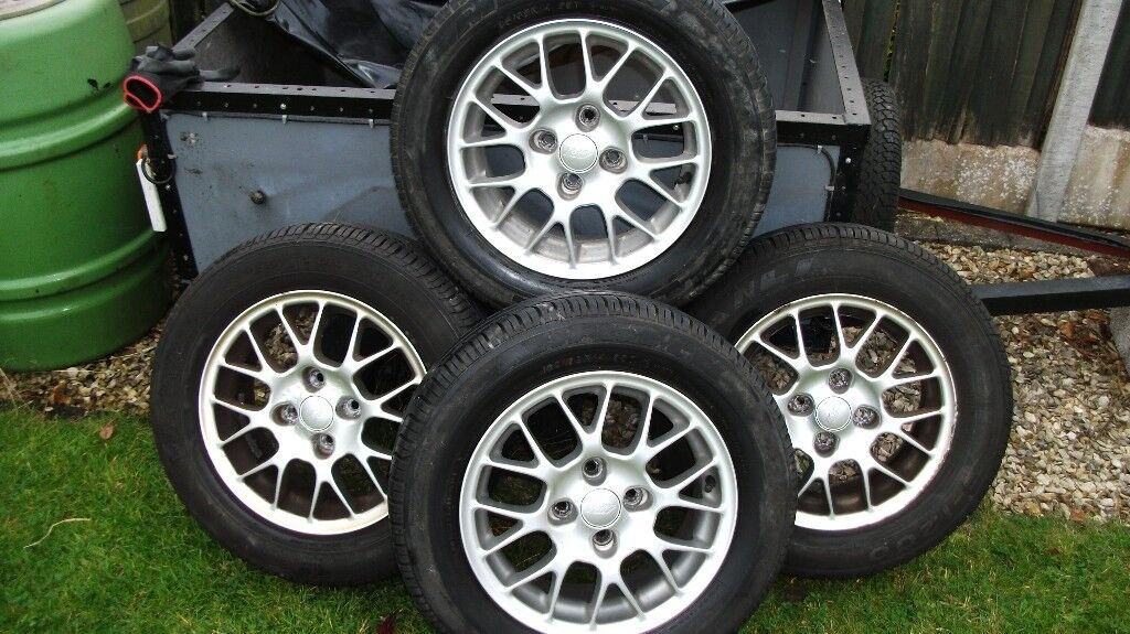 14'' Alloy wheels & Tyres with good tread