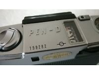 olympus pen-d ' 35 mm half frame film camera