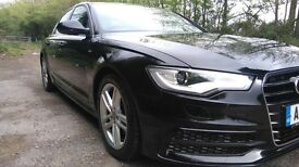 Audi A6 2.0TDi manual saloon S-Line in black, 2013 '13'