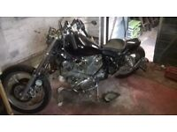 yamaha virago 1100cc, bobber , chopper , easy project ,spares or repair