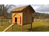 Wooden Hen House with Run