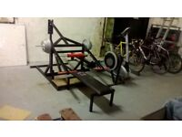 Weight Training Equipment Bench Press Machine, Pull Up Rack, Weights bars and discs
