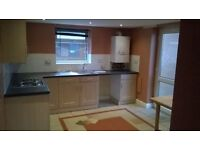 Spacious 1 bed flat in Blythe Bridge with private garden, shed and off road parking