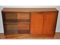 vintage side board, with book case, display cabinet, G plan, Danish design, 1960s, teak or rosewood