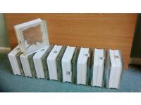 9 Pieces Glass Blocks/Bricks 19x19x8cm