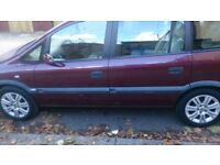 2002 VAUXHALL ZAFIRA,7 SEATER,,SERVICE HISTORY,CHEAP CAR