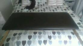 Brown faux leather double headboard
