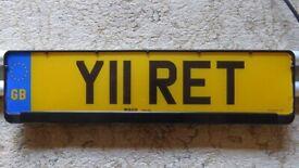 Cherished Car Registration Number Y11 RET on Retention
