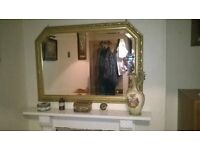 Large Ornate Gold Mirror