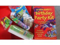 Horrid Henry Party Kits x2. For up to 20 children.