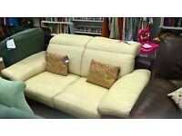 two seater leather sofa (good condition)