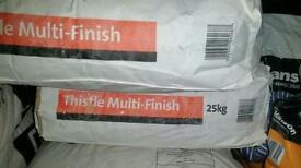 Two bags of plaster
