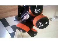 Slazenger golf clubs and bag