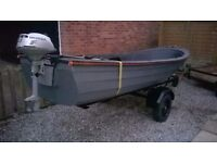 Boat for Sale, with Honda 4 Stroke Engine, suitable for Fishing Rivers, Complete setup