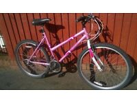 Octane Breeze Ladies Mountain Bike..Good Condition.19 inch Frame.Rides Well..PINK..£49..Good Choice