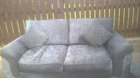 faux leather sofa bed with pouf