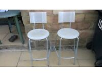 2 chairs for breakfast bar seating