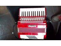 As new immaclate 48 bass 2 voice accordian
