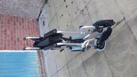 manual fold up wheel chair