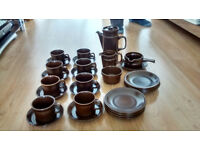 Wedgwood 'Sterling' Brown Crockery - Excellent Condition