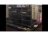 Crufts crate XL with crufts fabric cover