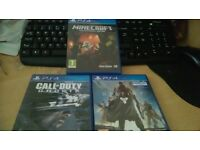 PS4 Games, like new, destiny minecraft call of duty ghosts