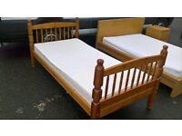 Single Pine Bed & Mattress