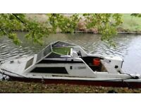 17ft cabin cruiser fishing/day boat
